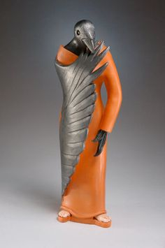 Celtic Shapeshifter Raven woman made to order by ClayBirdsandMore, $475.00