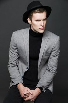 My Booker Management Agency - Michael Dickens - model and talent portfolios High Fashion, Mens Fashion, Male Models, Commercial, Suit Jacket, Management, Board, Jackets, Moda Masculina