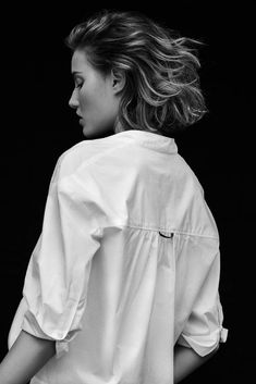 Designer Clothes, Shoes & Bags for Women Portrait Photography, Fashion Photography, Photography Tips, Fashion Shoot, Editorial Fashion, Classic White Shirt, Model Test, Black N White Images, Studio Portraits