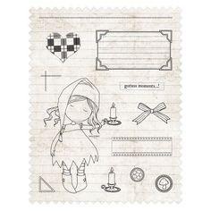 Rubber Stamps - Santoro Tweed - Nightlight | docrafts.com