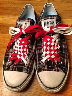 Angled Checker Lacing photo.... this site shows over 30 different ways to lace up your shoes