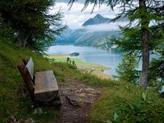 View towards Silsersee and Maloja, Switzerland