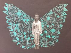 Third graders learned about street artist Kelsey Montague. Combined with the hashtag what lifts you- her artwork showing angel wings is a...