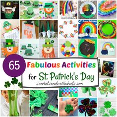 Sun Hats & Wellie Boots: Fabulous Crafts & Activities for St Patrick's Day Craft Activities For Kids, Preschool Crafts, Outdoor Activities, Crafts For Kids, Hat Crafts, St Patrick's Day Crafts, Rainbow Paper, Rainbow Crafts, Puppy Crafts