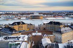 """""""Amalienborg"""" the royal palace, Copenhagen, Denmark."""