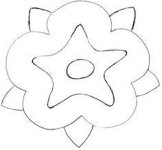 boceto aplicacione flor Tutorial Patchwork, Cookie Cutters, Crochet, Drawings, Shape, Loom Bracelets, Fabrics, Appliques, Sketch