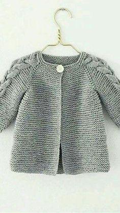 Ideas Crochet Cardigan Pattern Girls Baby Sweaters For 2019 Baby Sweater Knitting Pattern, Knitted Baby Cardigan, Knit Baby Sweaters, Crochet Jacket, Cardigan Pattern, Baby Knitting Patterns, Baby Patterns, Pattern Dress, Sweater Coats