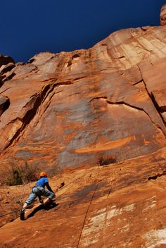 """""""Rock Climbing on the world famous Wallstreet in MOAB! Photograph by Audrey Livingston"""""""