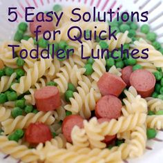 Kids Meals 5 Easy Solutions for Quick Toddler Lunches - 5 Easy Solutions for Quick Toddler Lunches Lunch Snacks, Healthy Snacks, Kid Lunches, Lunch Box, School Lunches, Baby Food Recipes, Cooking Recipes, Pasta Recipes Toddlers, Lunch Recipes