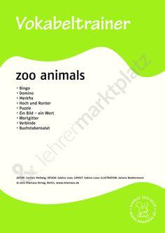 Vokabeltrainer Englisch: zoo animals - Möchtest du selbst erstellte digitale Unterrichtsmaterialien verkaufen oder kaufen? Du findest uns auf lehrermarktplatz.de und erreichst uns unter material@lehrermarktplatz.de. #lehrermarktplatz #unterrichtsmaterialien #englisch #vokabeln #miamaus #animals #school