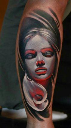 Skull Girl Tattoo, Girl Face Tattoo, Face Tattoos, Cover Up Tattoos, Leg Tattoos, Body Art Tattoos, Girl Tattoos, Dream Tattoos, Future Tattoos