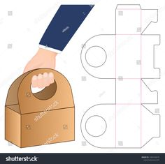 Utensilo Box Packaging Die Cut Template Design Stock Vector (Royalty Free) 1465162679 Water Beds and Origami Gift Box, Diy Gift Box, Diy Box, Origami Boxes, Diy Origami, Gift Boxes, Paper Box Template, Box Templates, Box Packaging Templates
