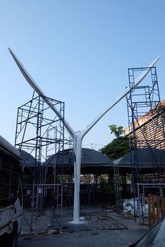 Bangkok EMQuartier canopy column - Boiffils architect / MaP3 engineer