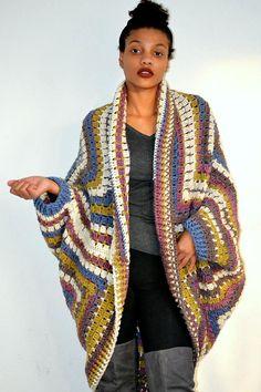 Cocoon Cardigan/ Cocoon crochet shrug/ Winter cocoon sweater/