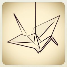 Paper crane, like this viewpoint