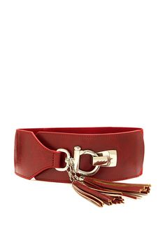 Steve Madden's Red Wide Belt w/ Tassels