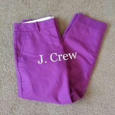 "Purple J. Crew J. Crew brand skimmer capri's. Only worn a couple times. Inseam 26"". City Fit. J. Crew Pants Capris"