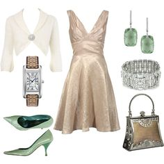 A Touch of Green for Night, created by #sadiesue on #polyvore. #fashion #style #Razak #Monsoon