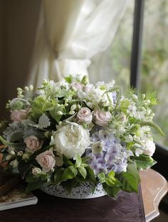 Lots of bride-to-bes might know the wedding event flower they want in their own arrangement, however are a little mystified about the remainder of the wedding flowers required to submit the event and reception. Hydrangea Arrangements, Wedding Flower Arrangements, Wedding Centerpieces, Peonies And Hydrangeas, Blush Wedding Flowers, Rose Stem, Open Rose, Indoor Flowers, Floating Candles
