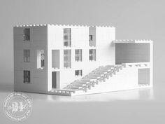 Architecture Logo, Studios Architecture, Lego Building, Model Building, Building Design, Lego Studios, Legos, Lego Lego, Lego For Kids
