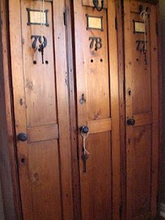 1000 images about home decorating with lockers on for Wood lockers with doors