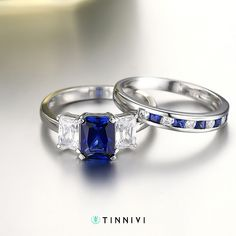 Radiant Cut Sapphire 925 Sterling Silver Engagement Ring Birthstone Ring #SterlingSilverEngagement