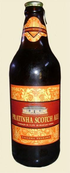 Cerveja Pratinha Scotch Ale, estilo Strong Scotch Ale, produzida por  Cervejaria Caseira, Brasil. 11.5% ABV de álcool.