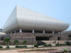 The National Theater in Accra was a gift to Ghana by the People's Republic of China. Capital Of Ghana, National Theatre, Accra, West Africa, Study Abroad, Homeland, Perfect Place, How To Memorize Things, Building