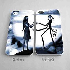 jack and sally Matching Phone Case Couple Phone Case iPhone 4/4S, 5/5S, 5C Series - Hard Plastic, Rubber Case