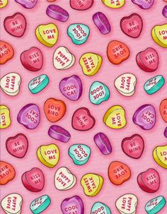 valentine hearts candy sayings