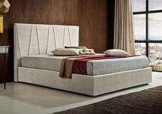 Upholstered fabric double bed JULIUS Bed Stories Collection By Felis Ottoman, Furniture, Bed Story, Upholstered Fabric, Hotel Furniture, Bedroom Design, Home Decor, Bed, Bedroom