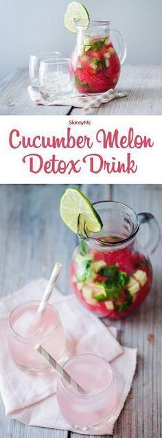 Melon Detox Drink Try our Cucumber Melon Detox Drink! So many health benefits! :)Try our Cucumber Melon Detox Drink! So many health benefits! Healthy Detox, Healthy Drinks, Healthy Water, Healthy Lunches, Eating Healthy, Detox Diet Drinks, Cleanse Detox, Detox Juices, Diet Detox