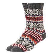 QT Feet Grey Sweater Stripe Socks / Women's