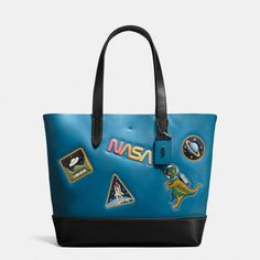 COACH Gotham Tote In Glove Calf Leather With Space Patches. #coach #bags #leather #hand bags #tote #