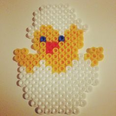 Easter chick hama beads by lindsayr1560