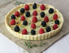 Thyme Goat Cheese Tart with Fresh Berries