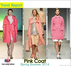 Pink Coat is the New Trench Coat for Spring Summer 2014  #pink #color
