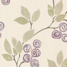 2532-20410 Violet Floral Trail - Geisha - Bath Bath Bath IV Wallpaper by Brewster