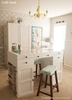 The most awesome craft desk EVER!! #craftroom
