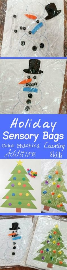 Get In The Holiday Spirit With This Christmas Tree Squishy Bag Activity - MomPlusThree.com