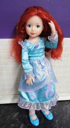 zapf creations fully jointed Disney princess doll Ariel The Little Mermaid VGC