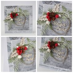 papieroffka Boże Narodzenie święta scrapbooking kartka