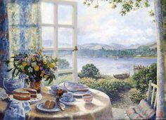 """""""Summer Flowers and Afternoon Tea"""" by Stephen Darbishire"""