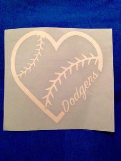 Dodgers Decal Dodgers Heart Sticker Decal by RKCreativeImpression