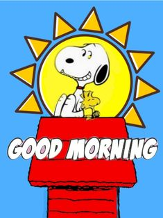 Funny Good Morning Wishes, Good Morning Quotes, Sent Pins, Snoopy Pictures, Snoopy And Woodstock, Peanuts Snoopy, Happy Day, Comic Strips, Charlie Brown