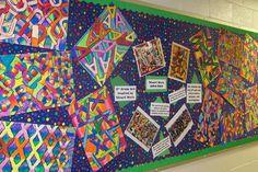 art project ideas 4th grade | 3rd grade StuartDavis-Inspired Letter Art