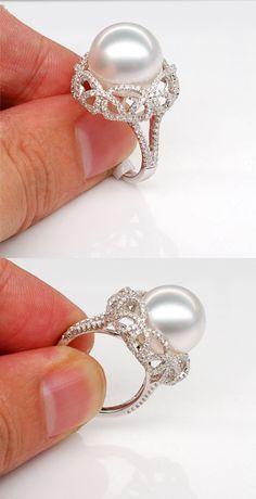 pear shaped lab treated emerald engagement ring white gold diamond wedding bridal ring set,promise ring,curved V band - Fine Jewelry Ideas Sparkly Jewelry, Pearl Jewelry, Boho Jewelry, Jewelry Rings, Fine Jewelry, Fashion Jewelry, Pearl Rings, Pearl Bracelets, Jewelry Logo