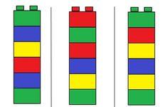 PERCEPÇÃO DAS CORES COM LEGO / BLOCOS DE MONTAR - MyKingList.com Lego Activities, Educational Activities, Preschool Activities, Preschool Math, In Kindergarten, Modele Lego, Material Didático, Busy Boxes, Montessori Materials