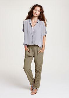Silk Chiffon PJ Shirt - tops - daywear | hush-uk.com