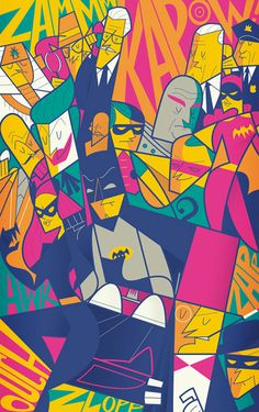 Batman by Ale Giorgini as Poster Batman 1966, Batman Art, Batman Robin, Art Pop, Ale Giorgini, Posters Batman, Batman Films, Illustration Batman, Batman Kunst